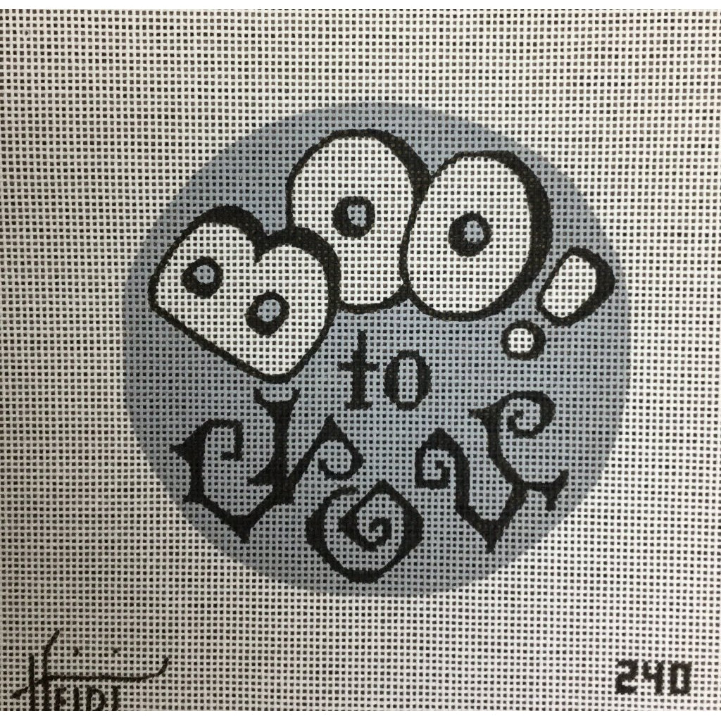 Boo to You Canvas-Needlepoint Canvas-Heidi Stanley Designs-KC Needlepoint