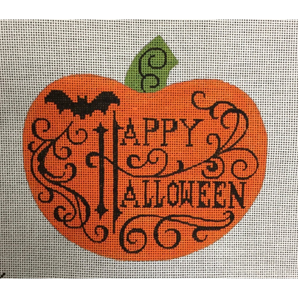 Happy Halloween Pumpkin Canvas-Needlepoint Canvas-Heidi Stanley Designs-KC Needlepoint