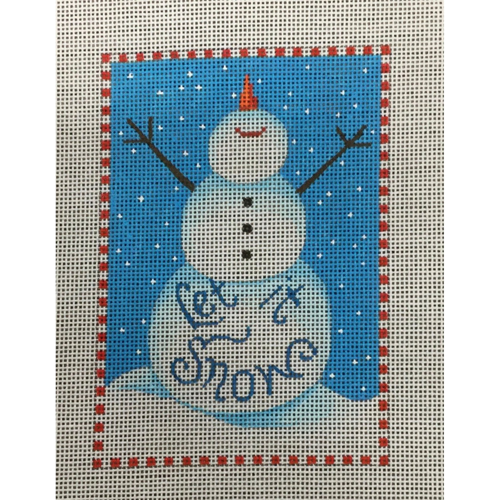 Let It Snow Snowman Canvas-Needlepoint Canvas-Heidi Stanley Designs-KC Needlepoint