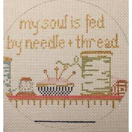 My Soul Is Fed... Needlepoint Canvas-Needlepoint Canvas-The Plum Stitchery-KC Needlepoint