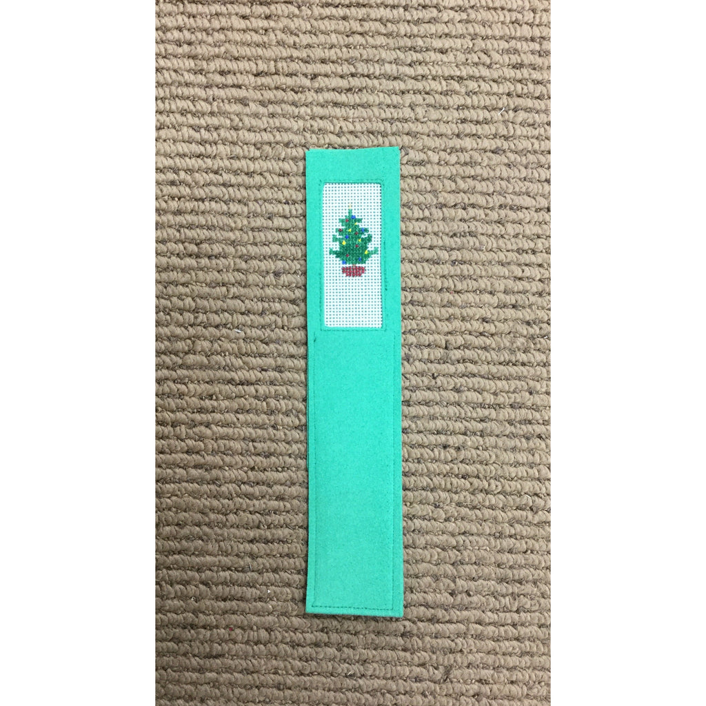 Christmas Tree Bookmark - needlepoint
