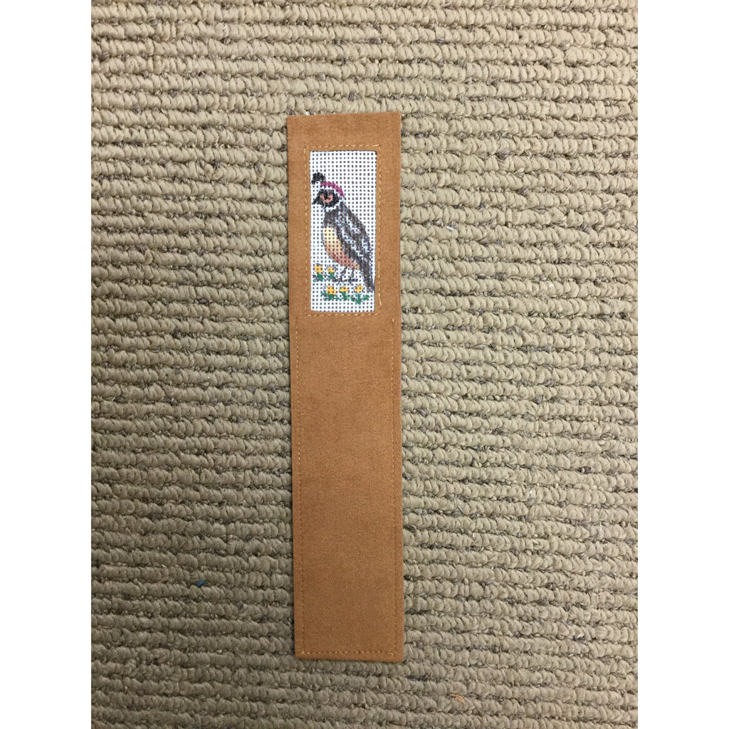 Quail Bookmark - needlepoint
