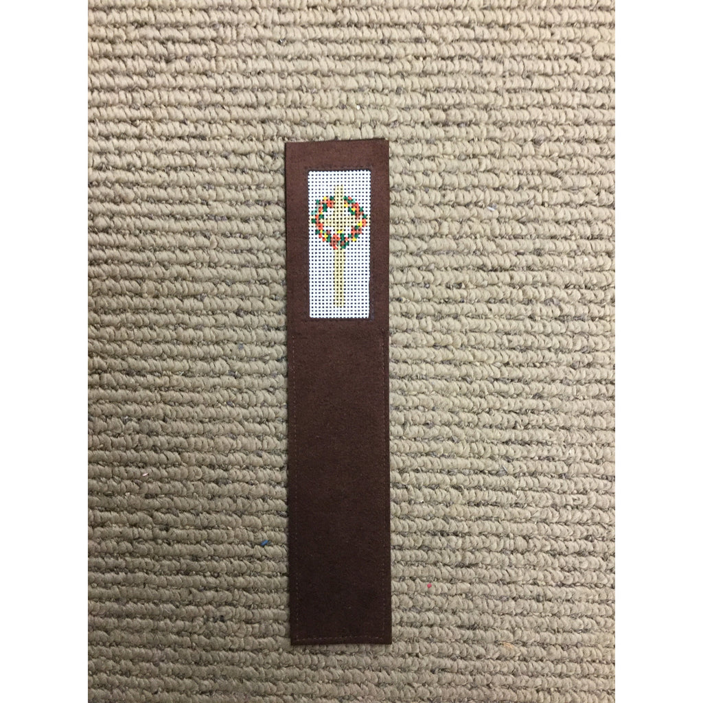 Cross with Wreath Bookmark-Accessories-Anne Brinkley Designs-KC Needlepoint