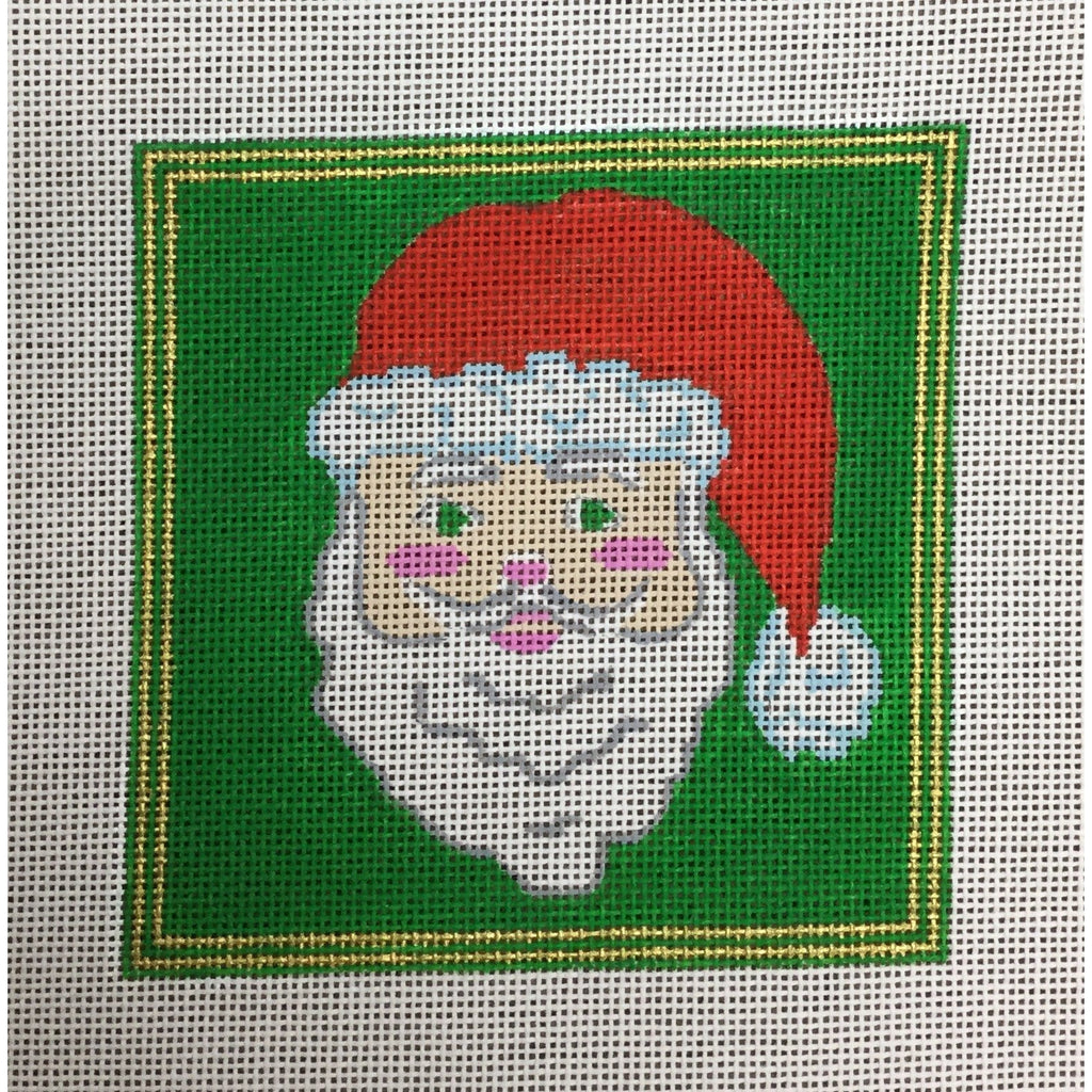 Santa Square Canvas-Needlepoint Canvas-KC Designs-KC Needlepoint