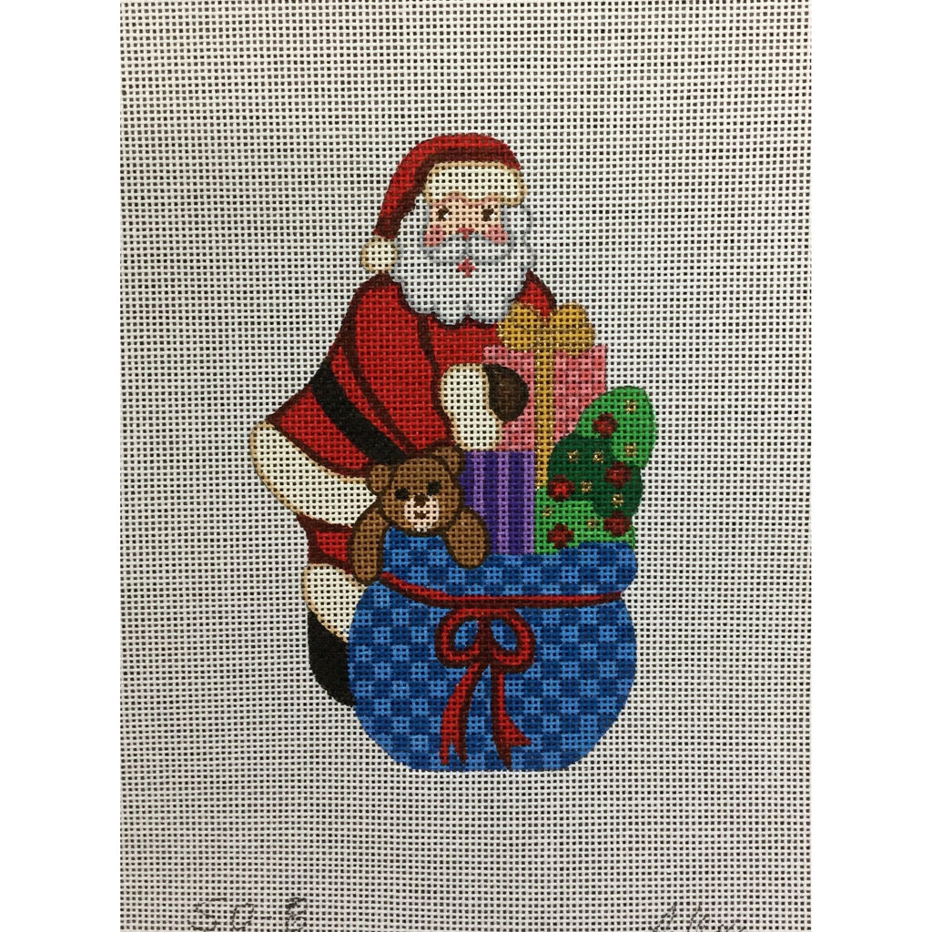 Santa With Toy Bag Canvas - needlepoint