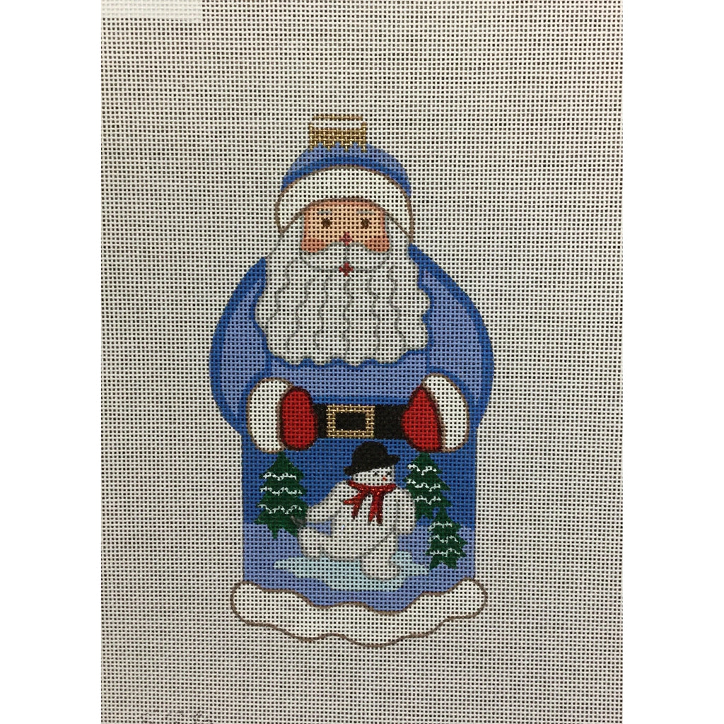 Santa with Snowman Canvas - needlepoint