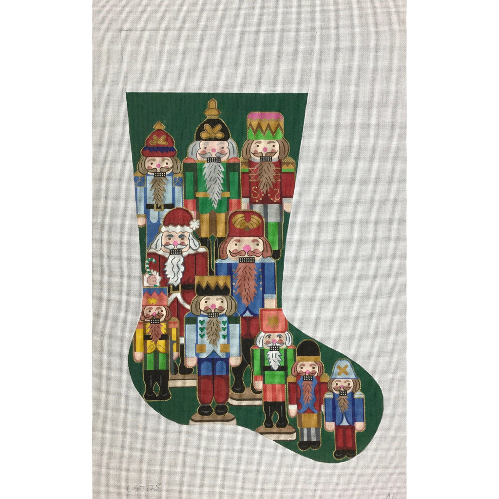 Nutcrackers Stocking Canvas-Needlepoint Canvas-Alexa Needlepoint Designs-KC Needlepoint