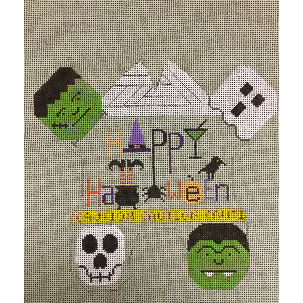 Halloween Frog Canvas-Needlepoint Canvas-Sew Much Fun-KC Needlepoint