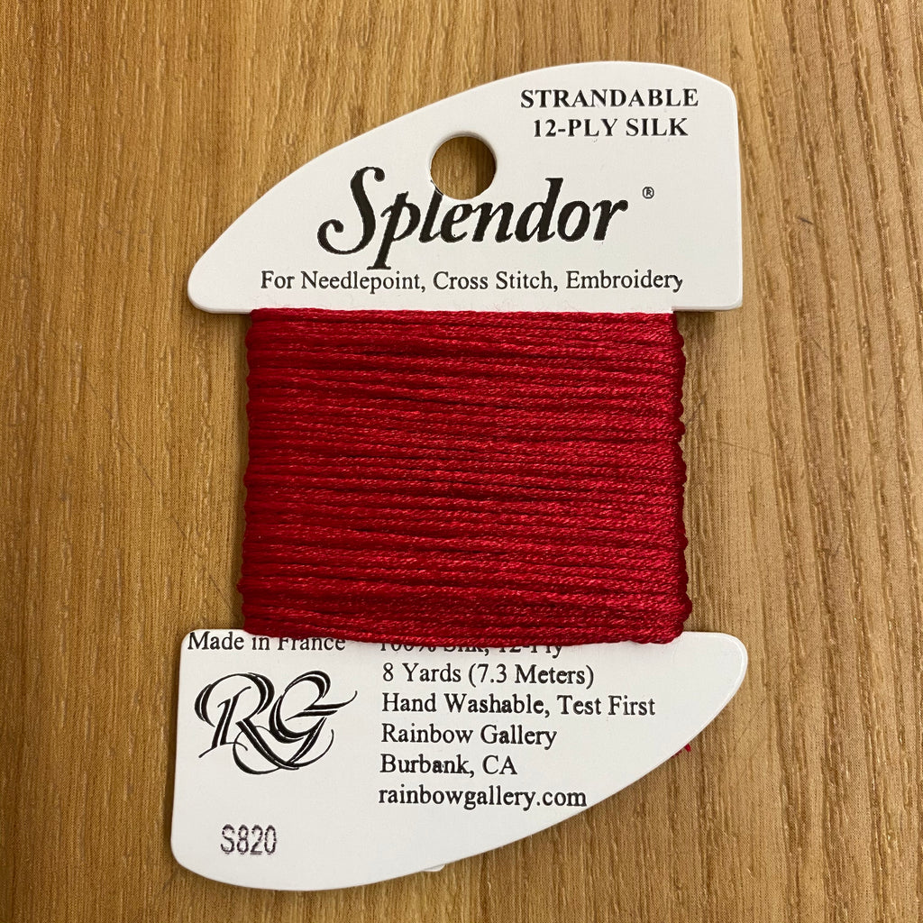 Splendor S820 Ruby Red - KC Needlepoint