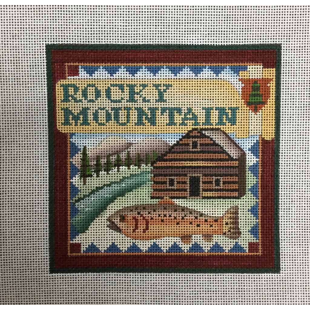 Rocky Mountain Travel Canvas-Needlepoint Canvas-Ewe & Eye-KC Needlepoint