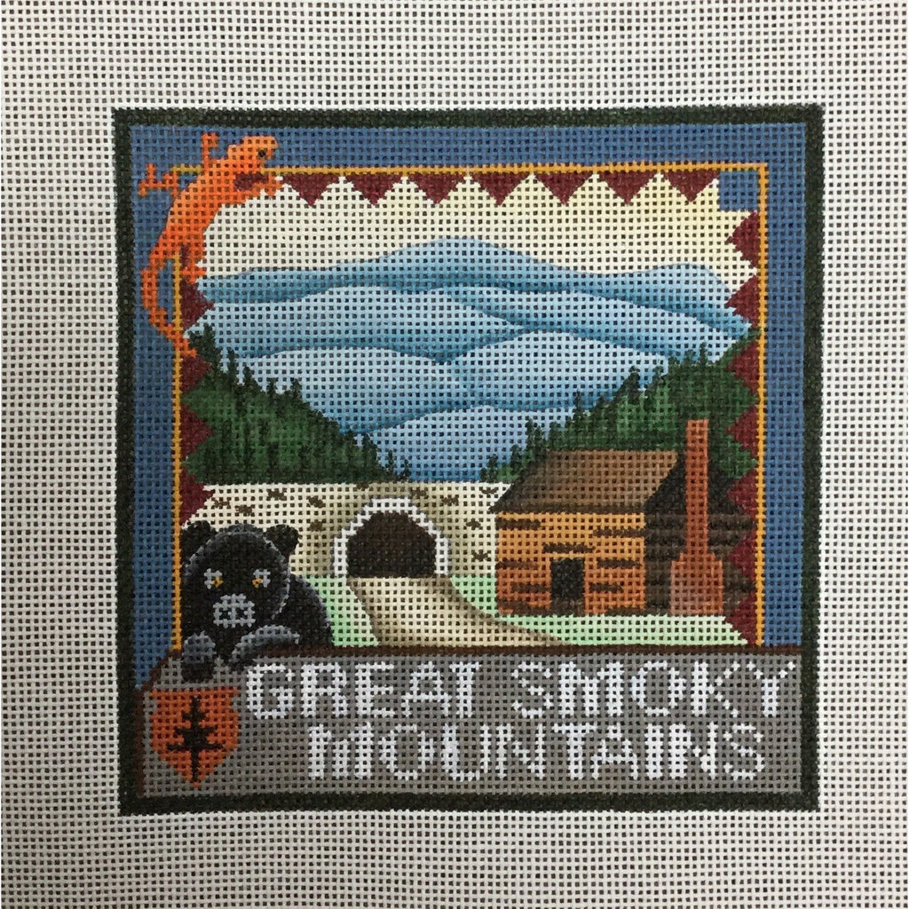 Great Smoky Mountains Travel Canvas-Needlepoint Canvas-Ewe & Eye-KC Needlepoint