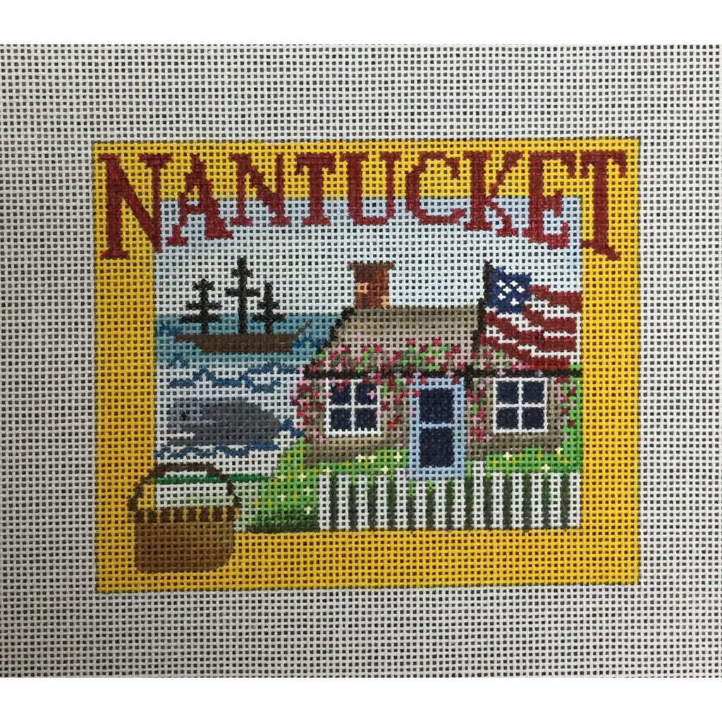 Nantucket Travel Canvas-Needlepoint Canvas-Ewe & Eye-KC Needlepoint