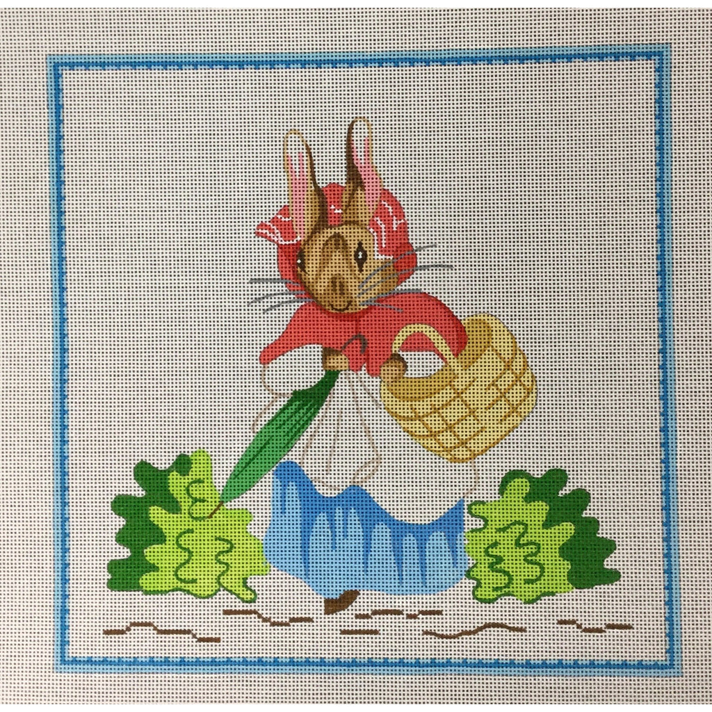 Mother Bunny Needlepoint Canvas-Needlepoint Canvas-Kate Dickerson-13 mesh-KC Needlepoint