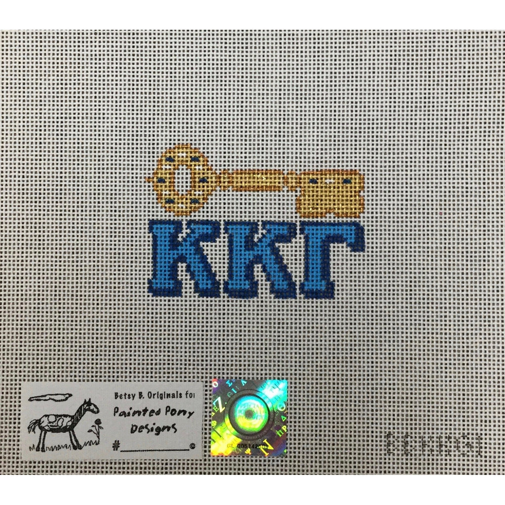 Kappa Kappa Gamma Ornament Canvas-Painted Pony-KC Needlepoint