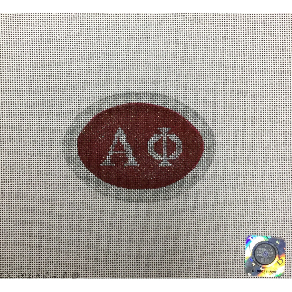 Alpha Phi Oval Canvas - needlepoint