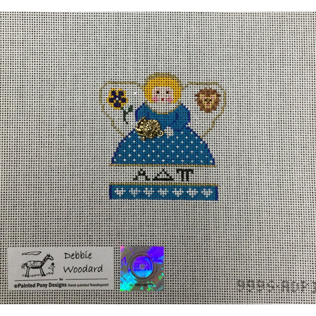 Alpha Delta Pi Angel Canvas - needlepoint