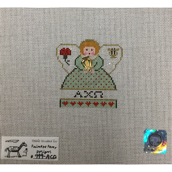 Alpha Chi Omega Angel Canvas - needlepoint