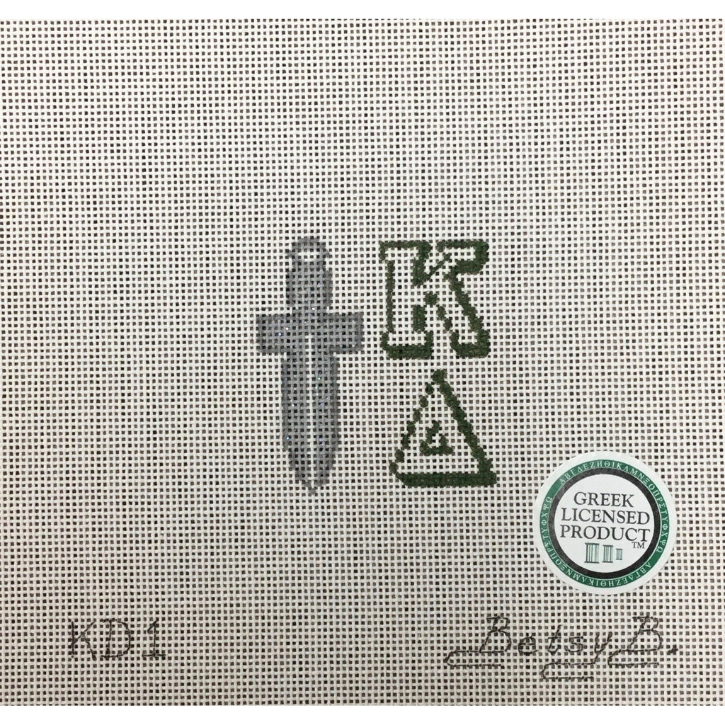 Kappa Delta Dagger Canvas - needlepoint
