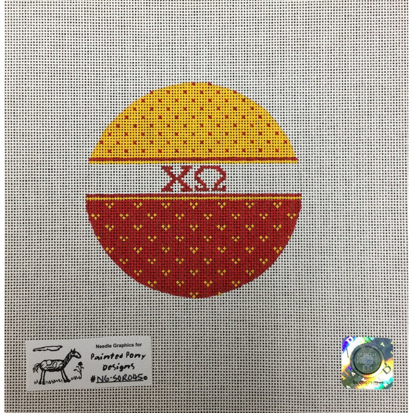 Chi Omega Round Canvas