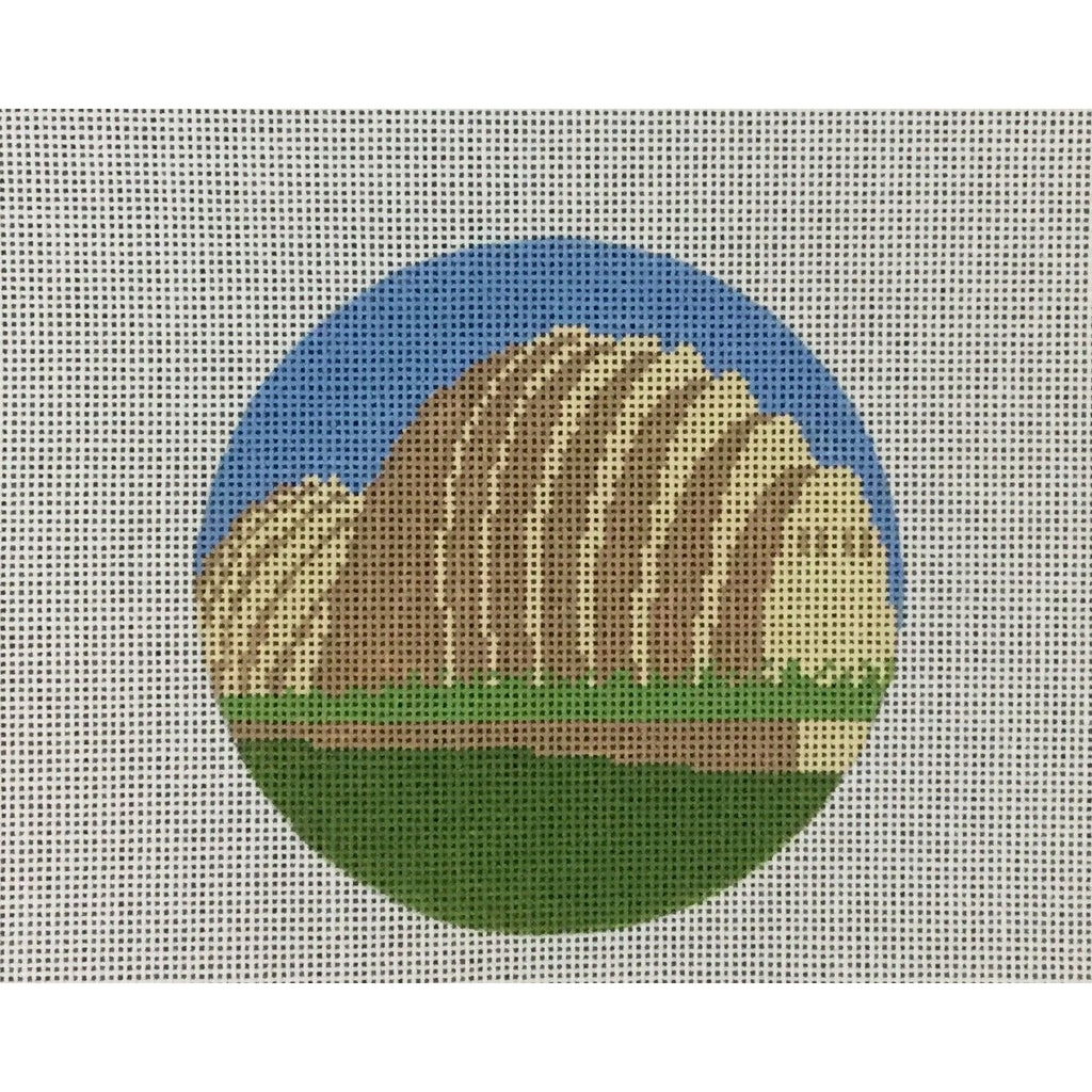 "Kauffman Center 4 1/2"" Round Canvas-Needlepoint Canvas-KCN Designers-KC Needlepoint"