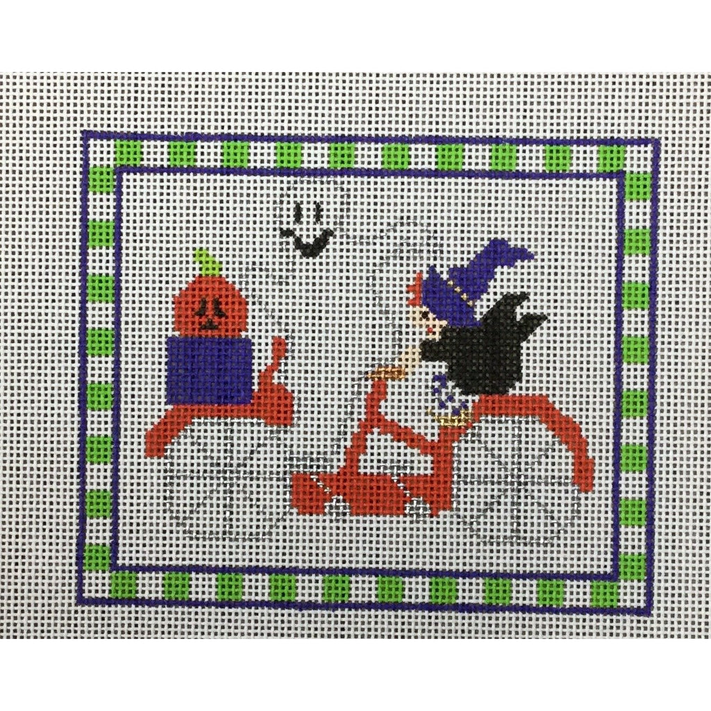 Halloween Bicycle Canvas-Needlepoint Canvas-Princess & Me-KC Needlepoint