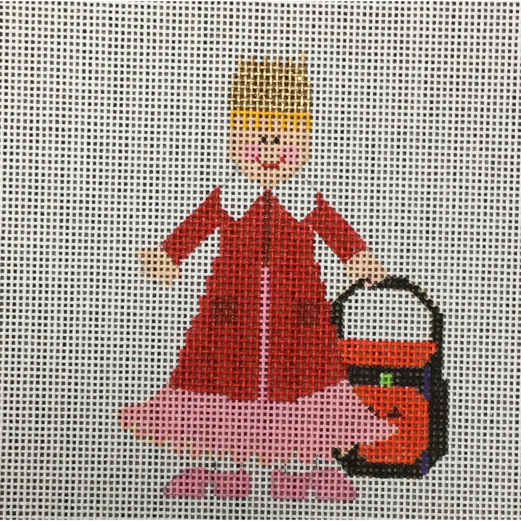 Princess with Coat Canvas-Needlepoint Canvas-Princess & Me-KC Needlepoint