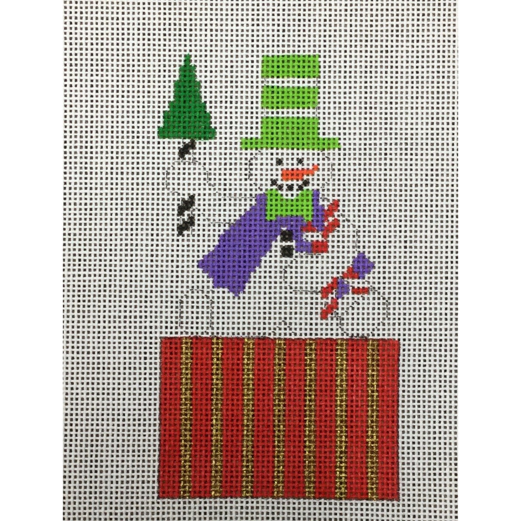 Snowman Package Canvas-Needlepoint Canvas-Princess & Me-KC Needlepoint