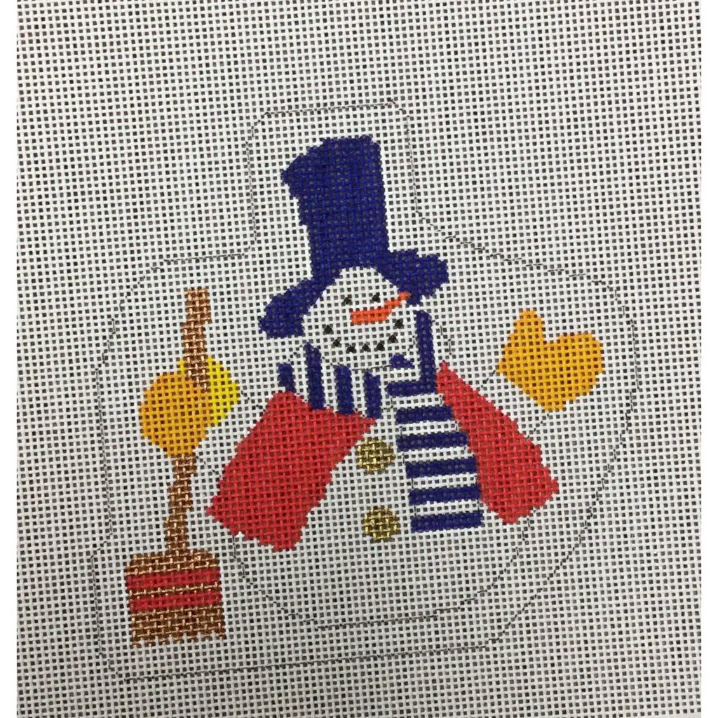 Snowman and Shovel Canvas-Needlepoint Canvas-Princess & Me-KC Needlepoint