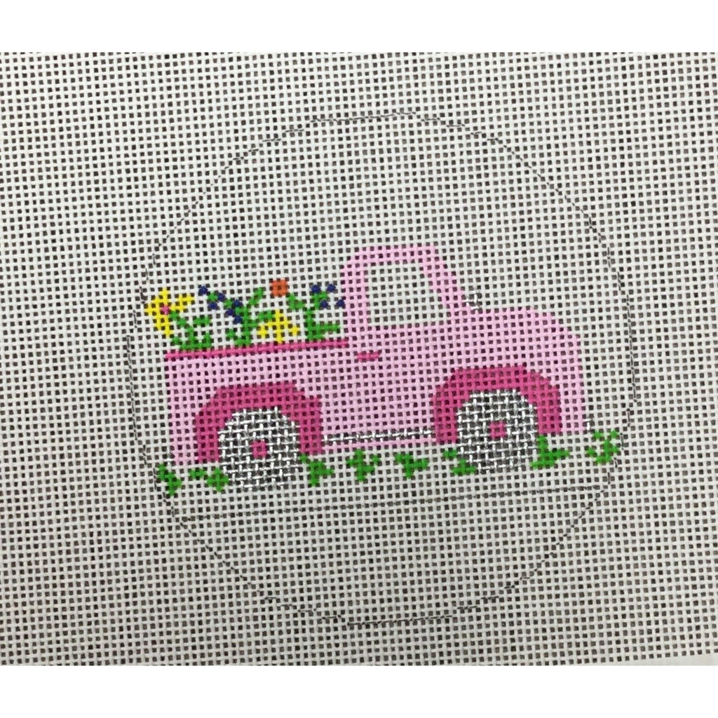 Little Pink Truck Canvas-Needlepoint Canvas-Princess & Me-KC Needlepoint