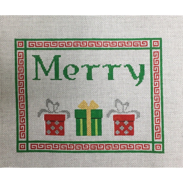 Merry with Packages Canvas - needlepoint