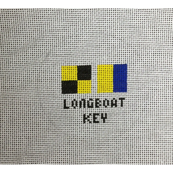 Longboat Key Round Canvas - needlepoint