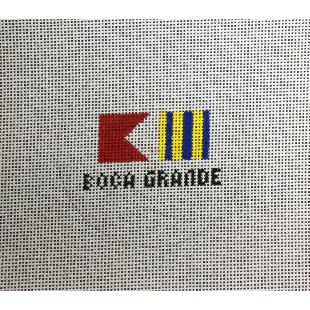 Boca Grande Travel Round Canvas - needlepoint