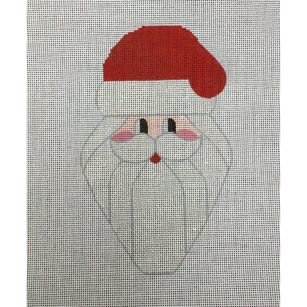 Christmas Light Santa Canvas - needlepoint