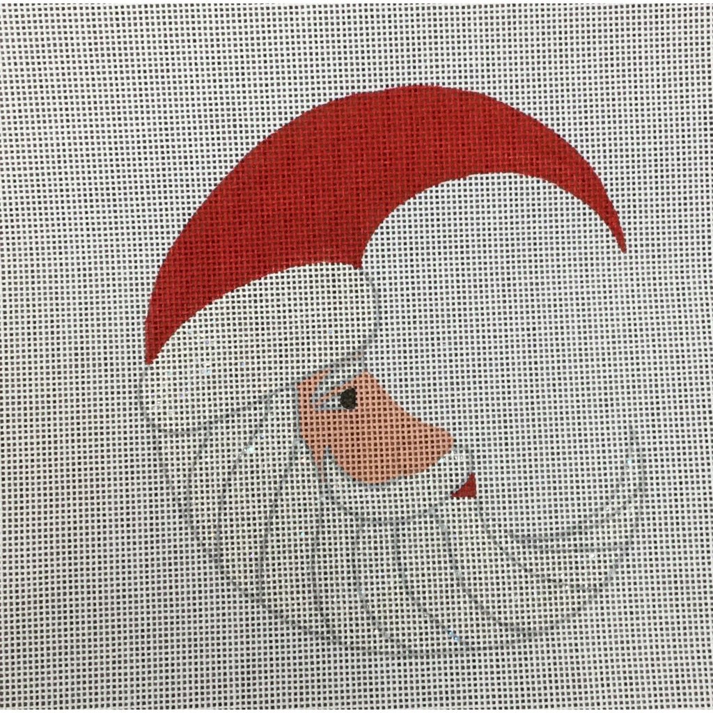 Santa in the Moon Canvas - needlepoint