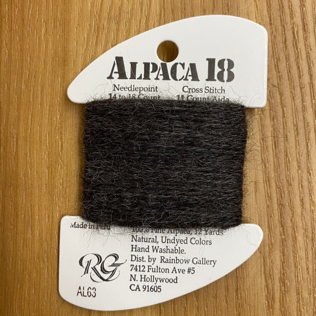Alpaca 18 AL63 Charcoal Gray - needlepoint