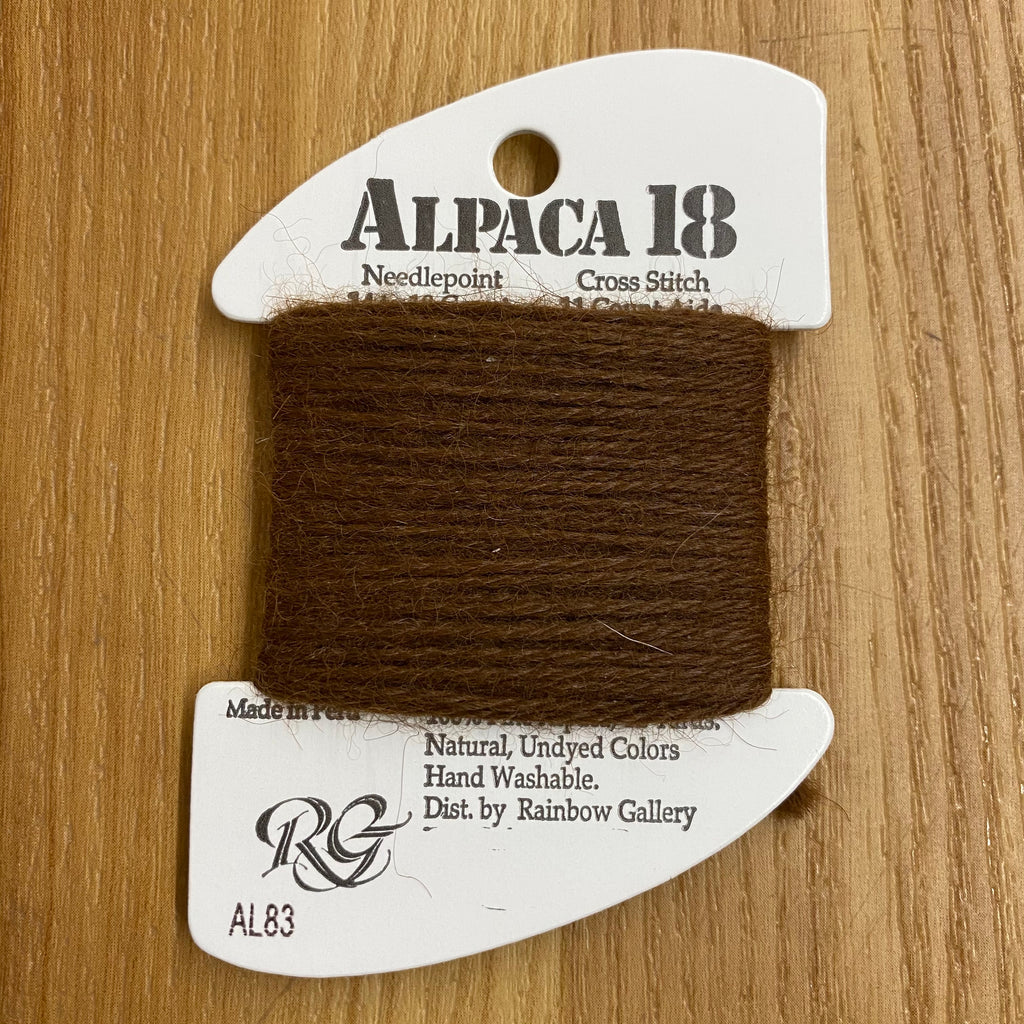 Alpaca 18 AL83 Brown - KC Needlepoint