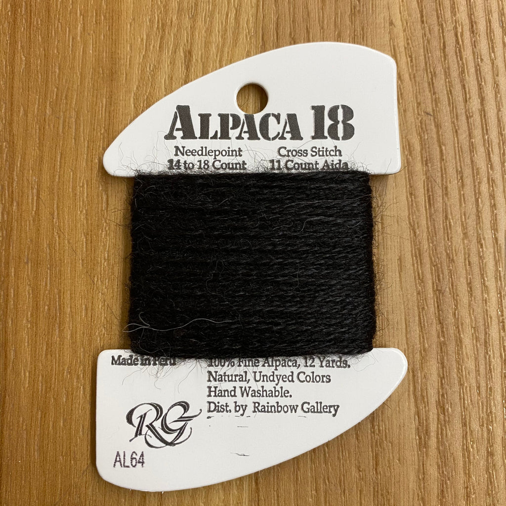 Alpaca 18 AL64 Black - KC Needlepoint
