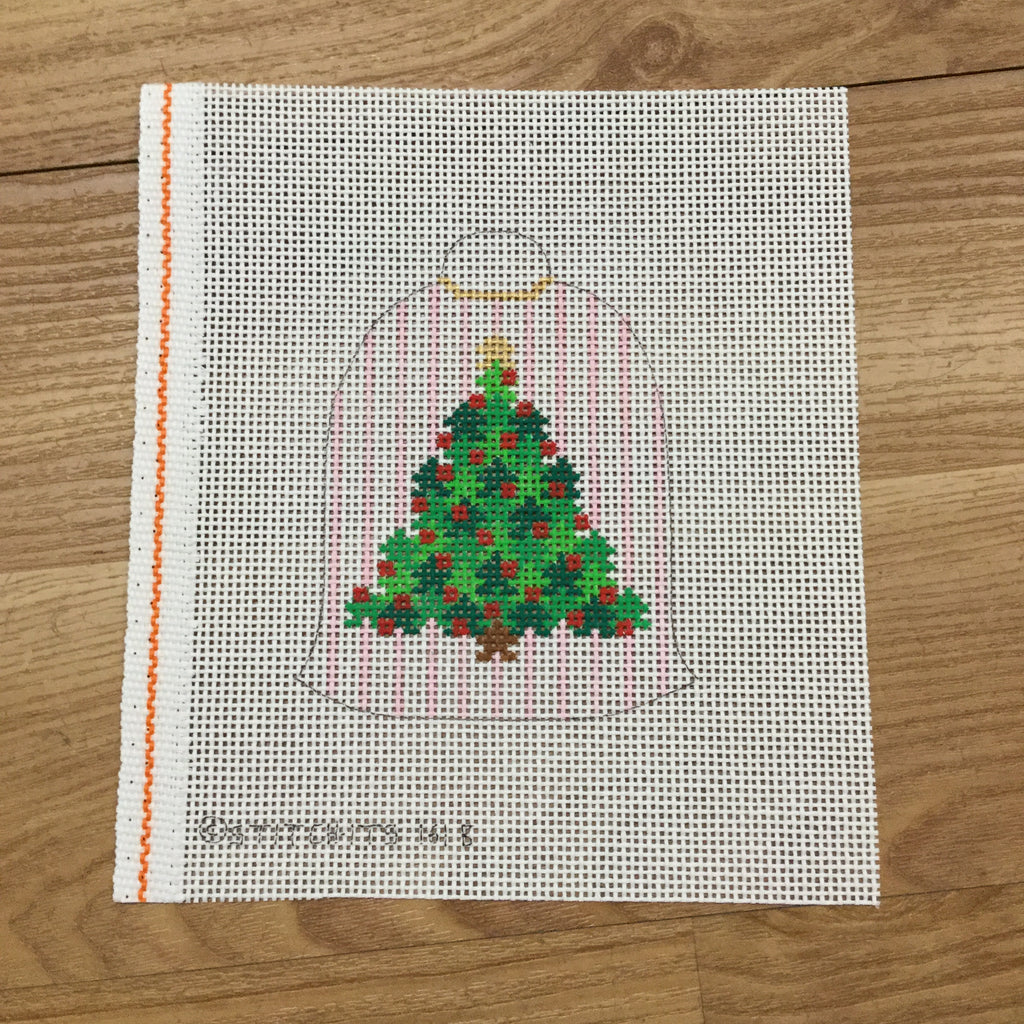 Bell with Tree Needlepoint Canvas - needlepoint