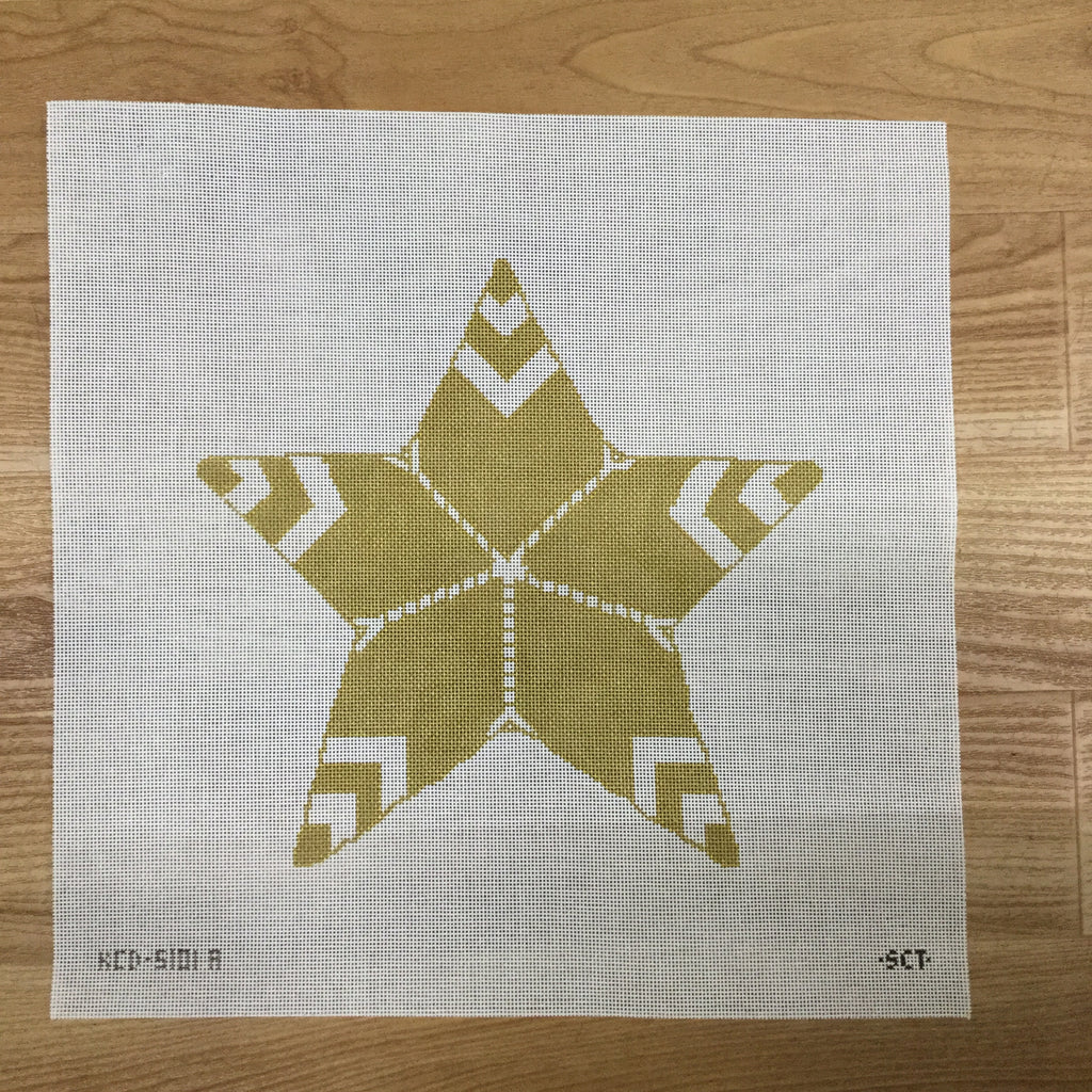 Gold Star Tree Topper Canvas