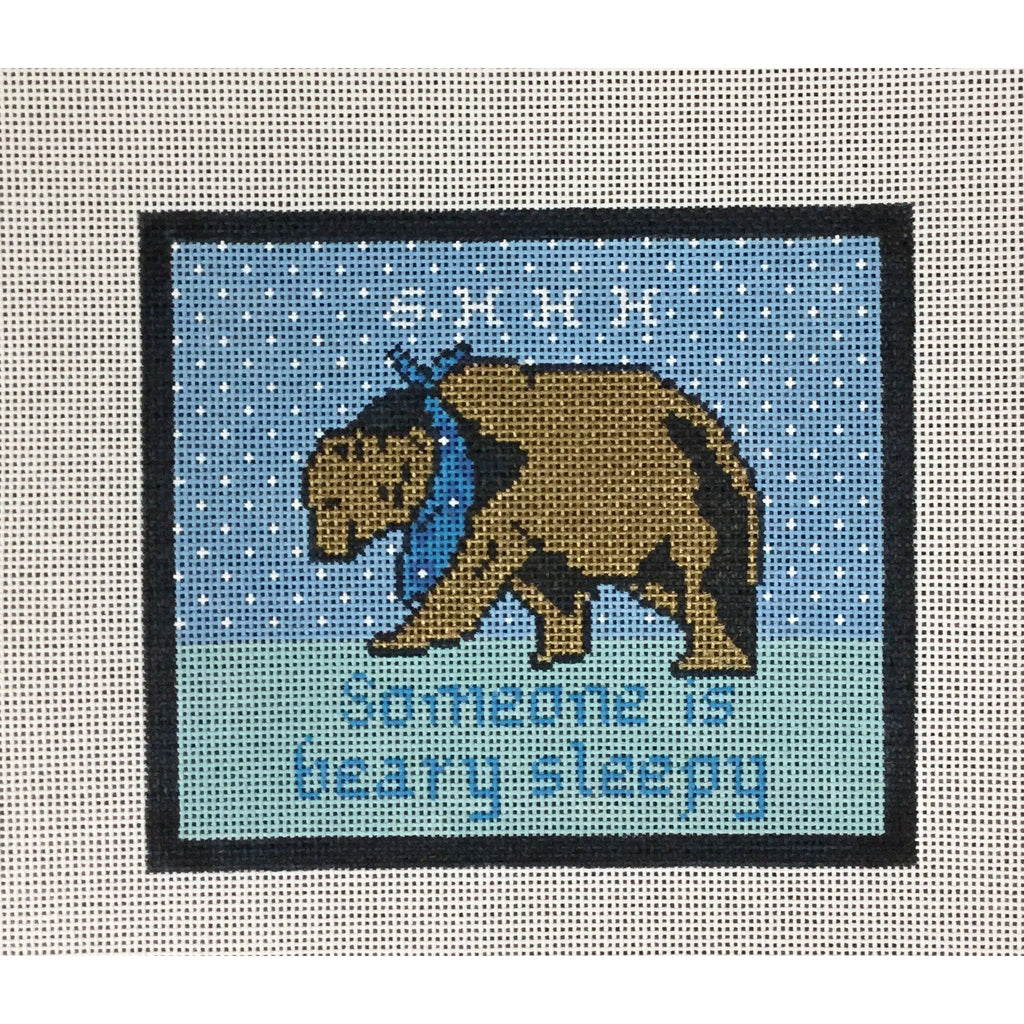 Beary Sleepy Canvas - needlepoint