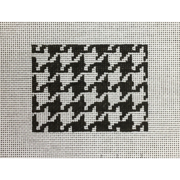Black/White Houndstooth Card Wallet Insert Canvas - needlepoint