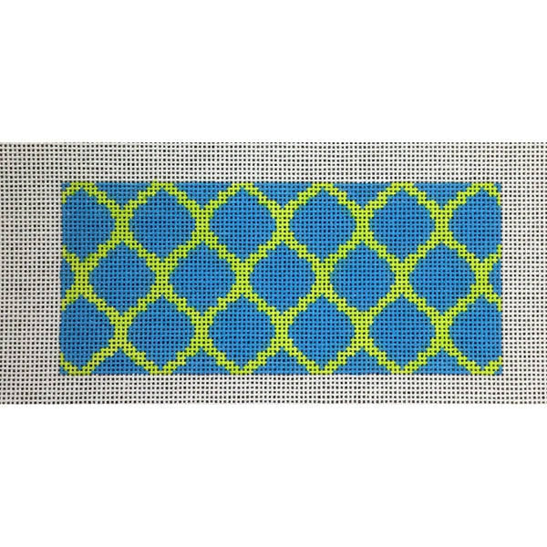 Blue/Green Card Insert Canvas - needlepoint