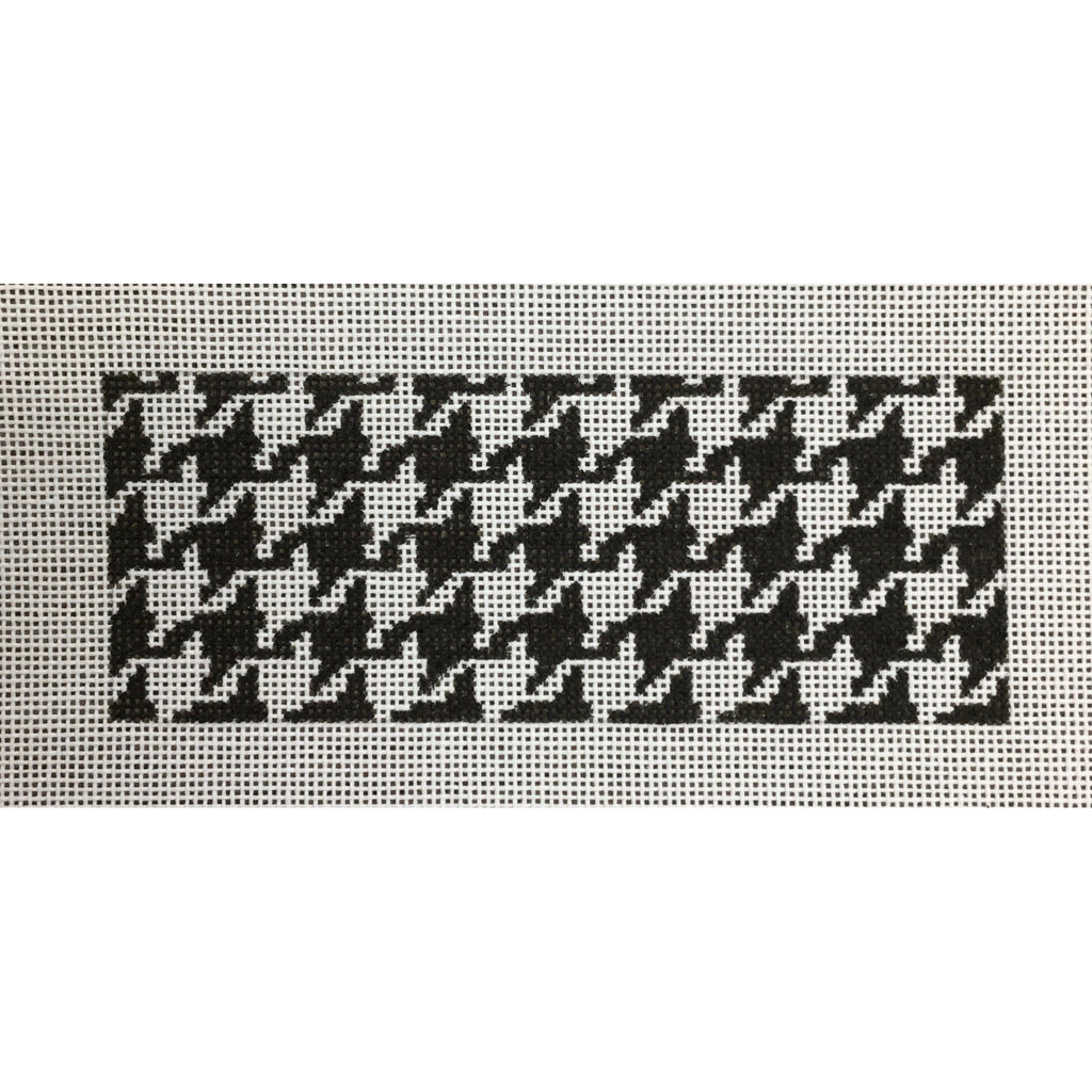 Black/White Houndstooth Card Insert Canvas-Needlepoint Canvas-Kate Dickerson-KC Needlepoint