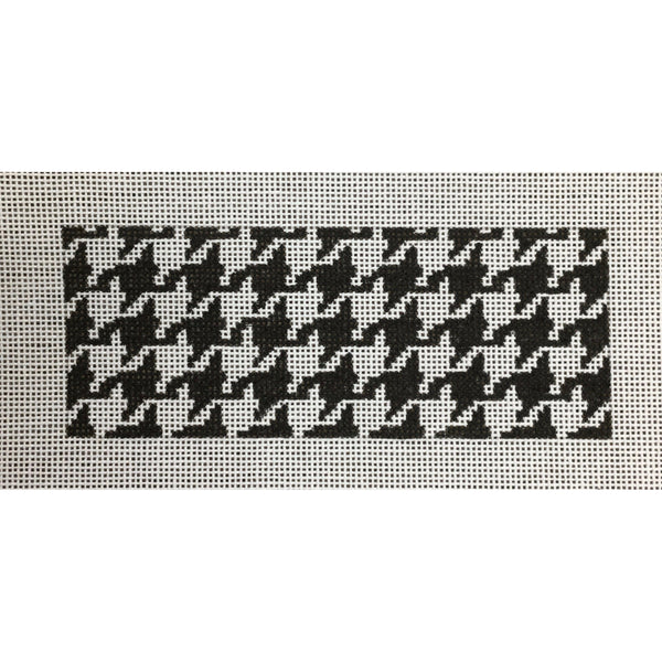 Black/White Houndstooth Card Insert Canvas - needlepoint