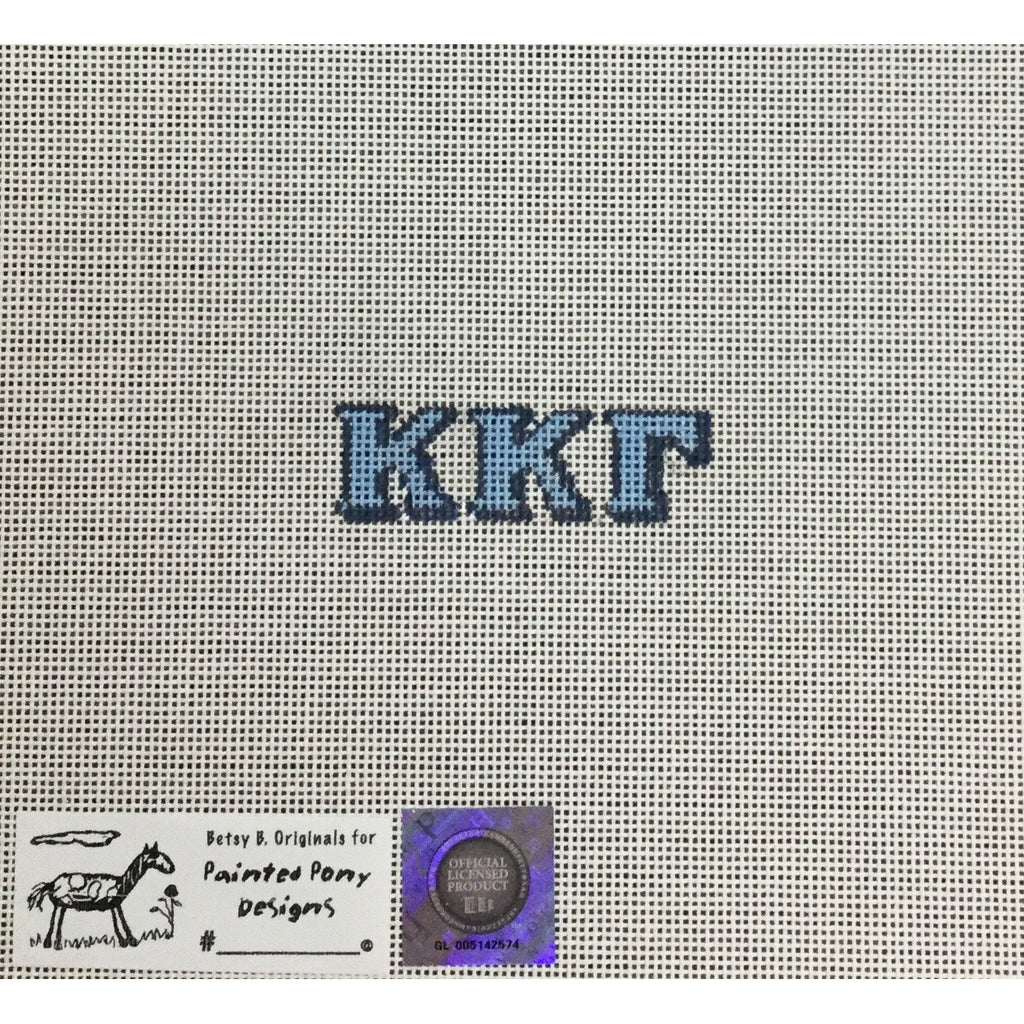 Kappa Kappa Gamma Letters Canvas-Painted Pony-KC Needlepoint