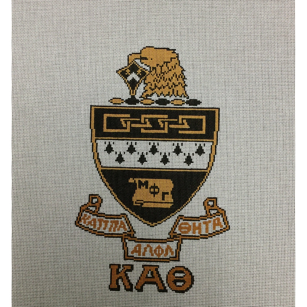 Kappa Alpha Theta Crest Canvas-Needlepoint Canvas-Painted Pony-KC Needlepoint