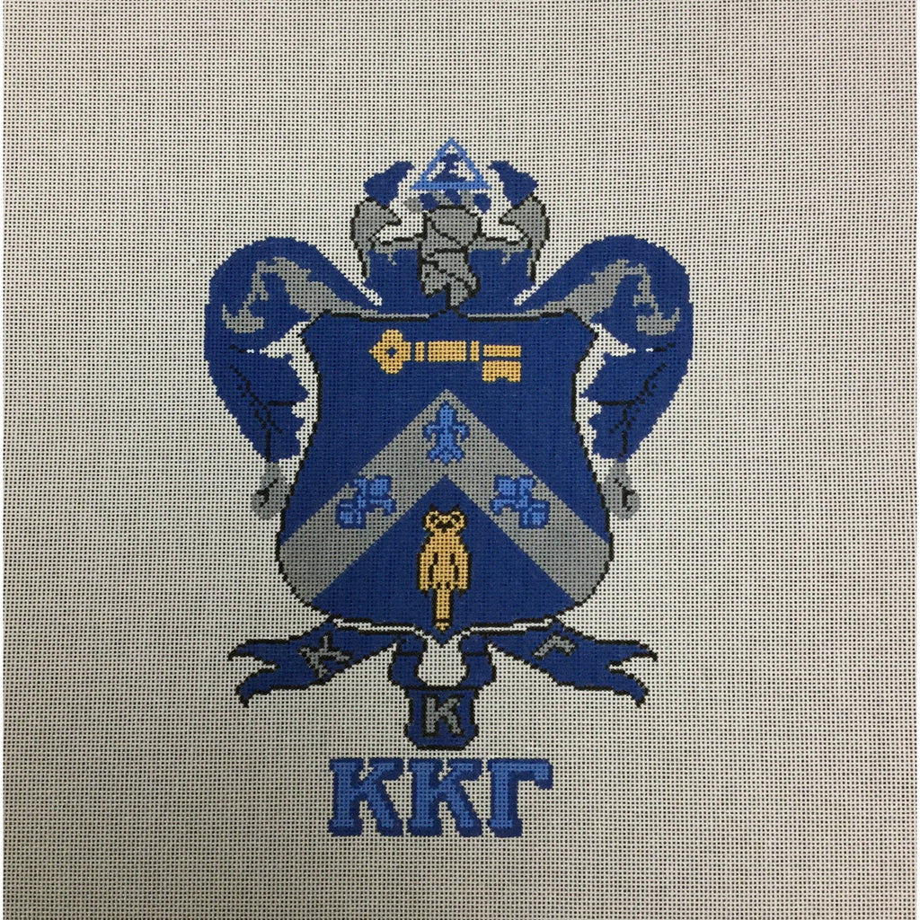 Kappa Kappa Gamma Crest Canvas-Painted Pony-KC Needlepoint