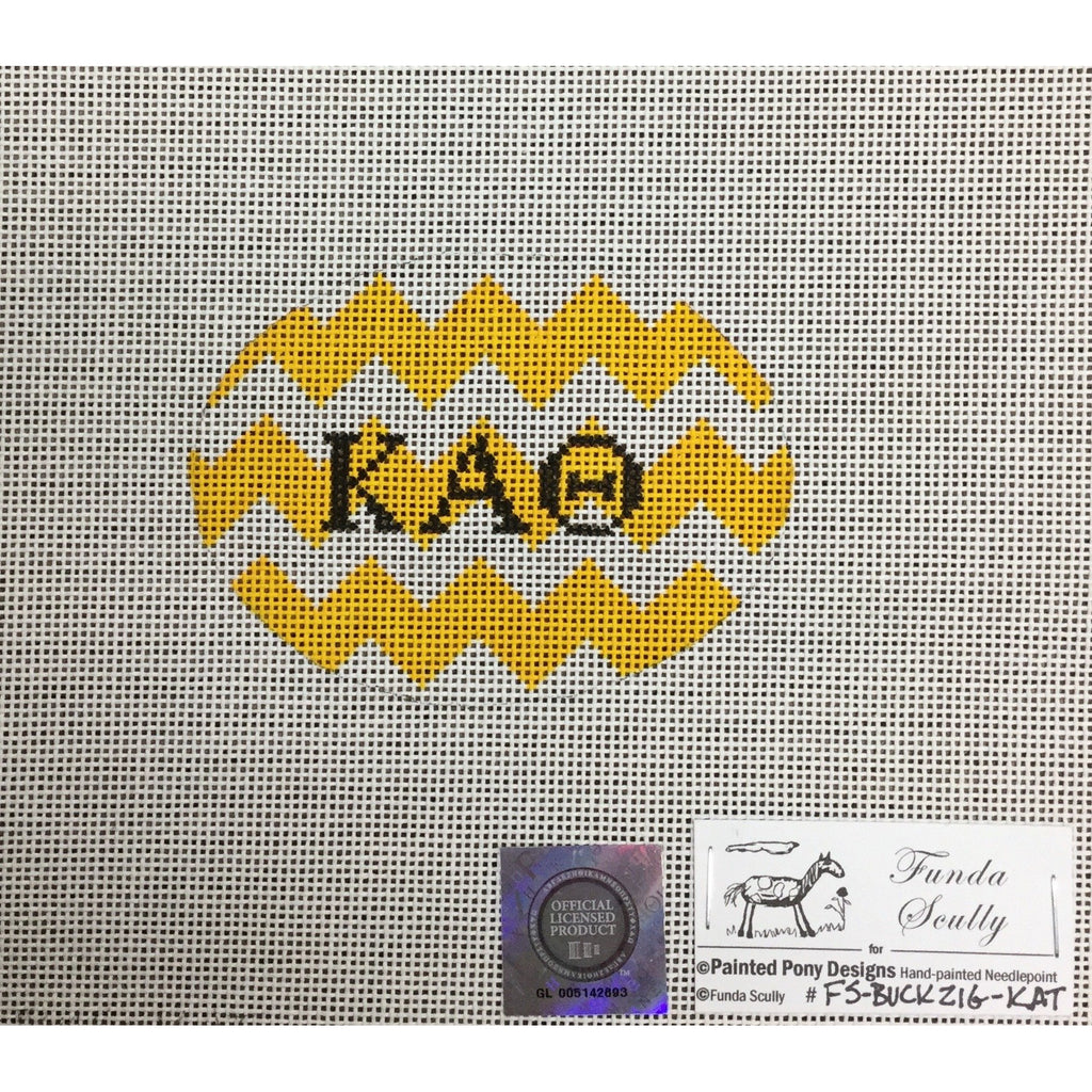 Kappa Alpha Theta Oval Canvas-Needlepoint Canvas-Painted Pony-KC Needlepoint