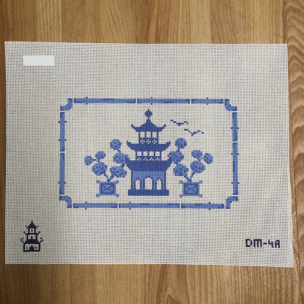Pagoda Canvas - needlepoint