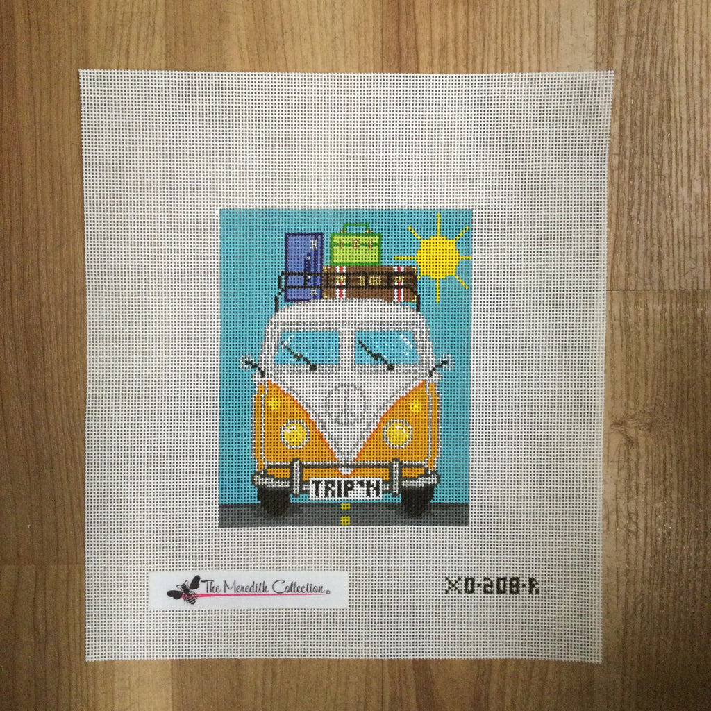 Micro Bus Road Trip Canvas - KC Needlepoint